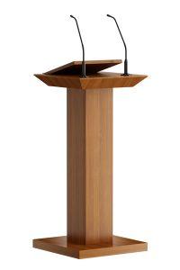 Klassiek maar dan anders.  In het bovenblad zijn 1 of 2 shock mounts voor de microfoons mogelijk. Voor de microfoons is een schuin leesvlak gemonteerd. De aansluitingen voor de microfoons zijn gemonteerd met XLR in de voet.  Classic but different.  In the top are 1 or 2 shock mounts possible for the microphones. In front of the microphones is an inclined reading surface mounted. The connections for the microphones are mounted with XLR in the base.  Klassisch aber unterschiedlich. Die Tischoberfläche bietet Raum für 1 oder 2 Erschütterungsabsorber für die Mikrofone. Vor den Mikrofone befindet sich eine geneigte Lesefläche. Die Anschlüsse für die Mikrofone sind mit XLR im Sockel montiert.