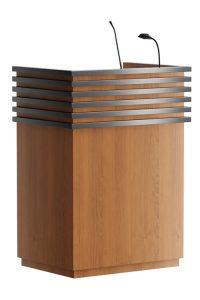 """Spreekgestoelte bestaande uit voornamelijk hout gecombineerd met RVS """"stripes"""". Tijdloos,modern behoudend model.  Spreekgestoelte bestaande uit voornamelijk hout gecombineerd met RVS """"stripes"""". Tijdloos,modern behoudend model.  Spreekgestoelte bestaande uit voornamelijk hout gecombineerd met RVS """"stripes"""". Tijdloos,modern behoudend model."""