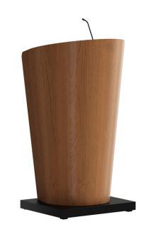 Houten spreekgestoelte met klasse in een gebogen vorm verjongend naar de voet. Voor de afwerking heeft u ruime keuze in hout (HPL) soorten en kleuren. Het houten spreekgestoelte Bend is optioneel leverbaar met zwanenhals microfoon in shockmount, LED leeslamp, afneembaar leesplateau. Wooden lectern with class in a curved shape. You have a wide range of finishes in wood (HPL) and colours to choose from. The wooden lectern Bend is optionally available with gooseneck microphone in shockmount, LED reading light, portable reading desk. Hölzernes Rednerpult mit Class in gewölbter Form. Sie haben die Wahl aus eine breite Dekorauswahl an Holz (HPL) und Farben. Das hölzerne Rednerpult Bend ist optional erhältlich mit Schwanenhalsmikrofon in Erschütterungsabsorber, LED Leuchte, abnehmbare Leseplatte.