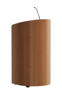 Elegante ronde lijnen geven dit stijlvolle houten spreekgestoelte de statuur die uw presentatie verdient. Leverbaar in diverse afwerkingen laten het volledig inpassen in uw interieur.  The elegant rounded lines give this stylish wooden lectern the stature your presentation deserves. Available in a variety of finishes make it fully customize your interior.   Elegant gerundete Lineaturen verleihen dieses stilvollen Holzpult die Gestalt, die Ihre Präsentation verdient. In einer Vielzahl von Ausführungen erhältlich, die vollständig in Ihrem Interieur passen.